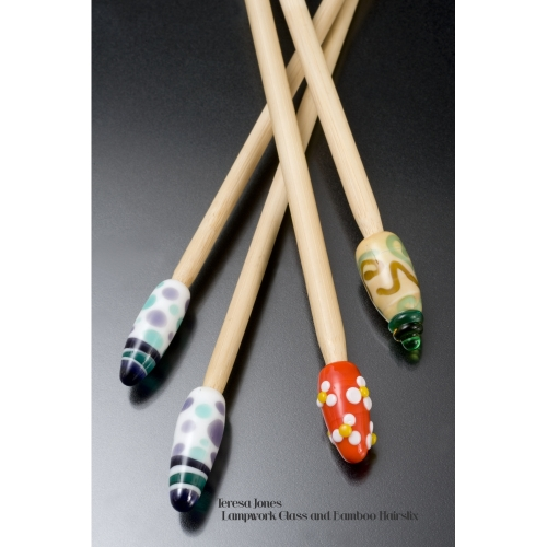Glass and Bamboo Hairstix